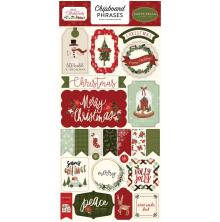 Carta Bella Hello Christmas Chipboard 6X13 - Phrases