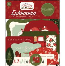 Carta Bella Hello Christmas Cardstock Die-Cuts 33/Pkg - Icons
