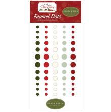 Carta Bella Adhesive Enamel Dots 60/Pkg - Hello Christmas