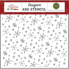 Carta Bella Hello Christmas Stencil 6X6 - Wonderland Snowflakes