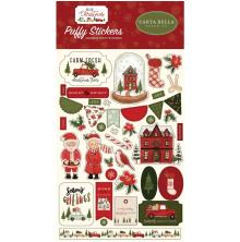 Carta Bella Puffy Stickers - Hello Christmas