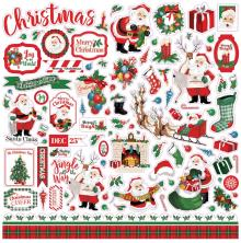 Carta Bella Dear Santa Cardstock Stickers 12X12 - Elements