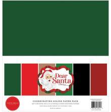 Carta Bella Solid Cardstock 12X12 6/Pkg - Dear Santa