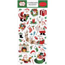 Carta Bella Dear Santa Chipboard 6X13 - Accents