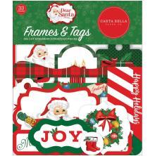 Carta Bella Dear Santa Cardstock Die-Cuts 33/Pkg - Frames & Tags