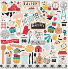 Echo Park Farmhouse Kitchen Cardstock Stickers 12X12 - Elements