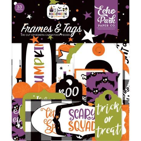 Echo Park I Love Halloween Cardstock Die-Cuts 33/Pkg - Frames & Tags
