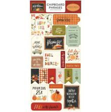 Carta Bella Hello Autumn Chipboard 6X13 - Phrases
