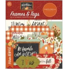 Carta Bella Hello Autumn Cardstock Die-Cuts 33/Pkg - Frames & Tags