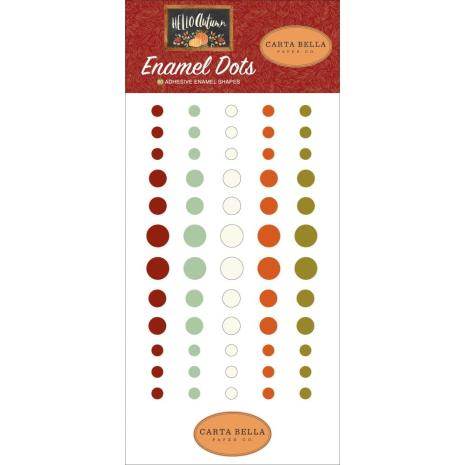 Carta Bella Adhesive Enamel Dots 60/Pkg - Hello Autumn