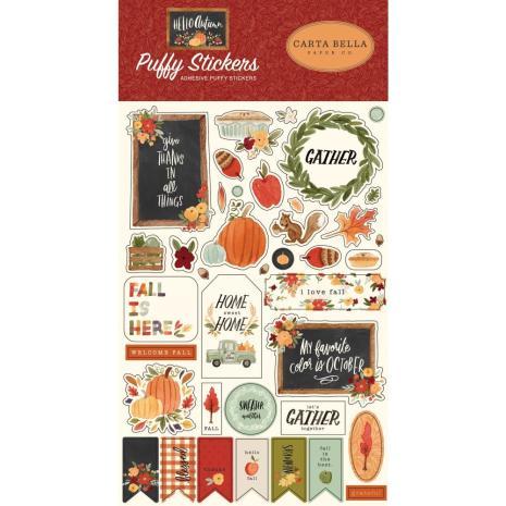 Carta Bella Puffy Stickers - Hello Autumn