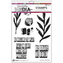 Dina Wakley Media Cling Stamps 6X9 - Be Willing