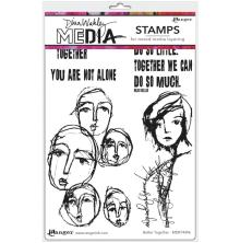Dina Wakley Media Cling Stamps 6X9 - Better Together