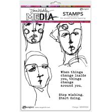 Dina Wakley Media Cling Stamps 6X9 - Change