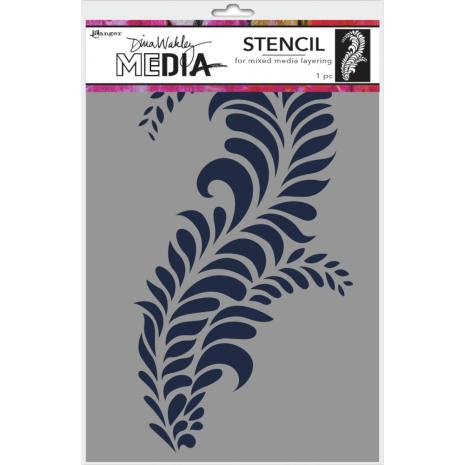 Dina Wakley Media Stencils 9X6 - Giant Flourish