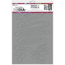 Dina Wakley Media Stencils + Masks 6X9 - Meandering
