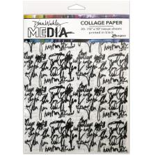 Dina Wakley Media Tissue Pack 7.5X10 20/Pkg - Just Words