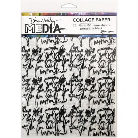 Dina Wakley Media Tissue Pack 7.5X10 20/Pkg - Just Words