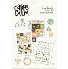 Carpe Diem  A5 Planner Sticker Tablet - Live Simply