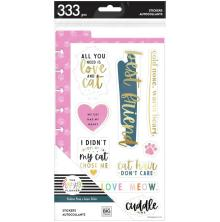 Me & My Big Ideas Happy Planner CLASSIC Dashboard With Stickers - Cat Feline Fin