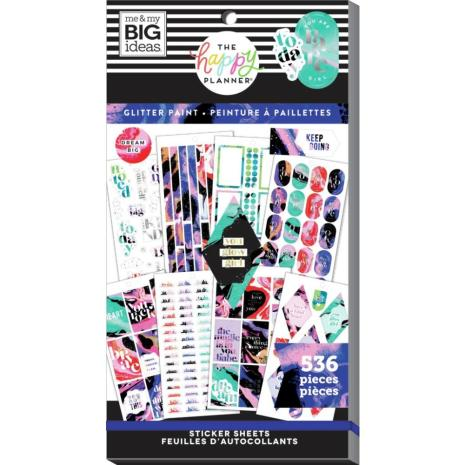 Me & My Big Ideas Happy Planner Sticker Value Pack - Glitter Paint 536