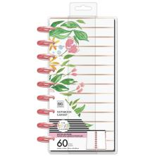 Me & My Big Ideas CLASSIC Half Sheet Notebook - Detailed Florals