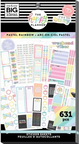 Me & My Big Ideas Happy Planner Sticker Value Pack - Pastel Rainbow