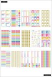 Me & My Big Ideas Happy Planner Sticker Value Pack - Brights Skinny Mini