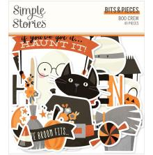 Simple Stories Bits & Pieces Die-Cuts 49/Pkg - Boo Crew