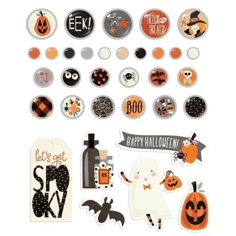 Simple Stories Decorative Metal Brads 33/Pkg - Boo Crew