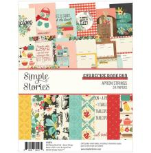Simple Stories Double-Sided Paper Pad 6X8 - Apron Strings Recipe Book