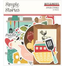 Simple Stories Bits & Pieces Die-Cuts 55/Pkg - Apron Strings