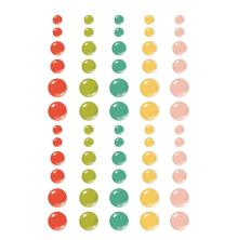 Simple Stories Enamel Dots 60/Pkg - Apron Strings
