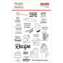 Simple Stories Clear Stamps - Apron Strings