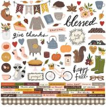 Simple Stories Cozy Days Sticker Sheet 12X12 - Combo