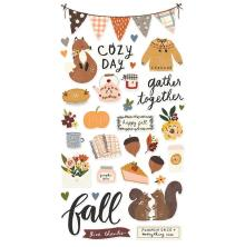 Simple Stories Chipboard Stickers 6X12 - Cozy Days