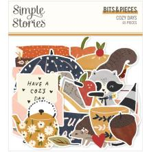 Simple Stories Bits & Pieces Die-Cuts 65/Pkg - Cozy Days