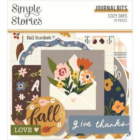 Simple Stories Bits & Pieces Die-Cuts 39/Pkg - Cozy Days Journal
