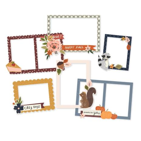 Simple Stories Layered Frames 6/Pkg - Cozy Days