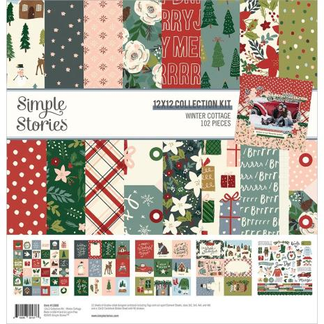 Simple Stories Collection Kit 12X12 - Winter Cottage