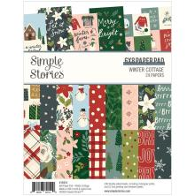 Simple Stories Double-Sided Paper Pad 6X8 - Winter Cottage