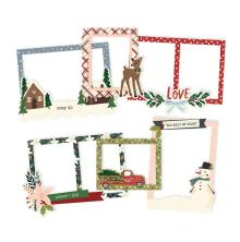 Simple Stories Layered Frames 6/Pkg - Winter Cottage
