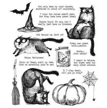 Tim Holtz Cling Stamps 7X8.5 - Snarky Cat Halloween