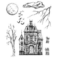 Tim Holtz Cling Stamps 7X8.5 - Sketch Manor