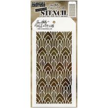 Tim Holtz Layered Stencil 4.125X8.5 - Deco Arch Layered