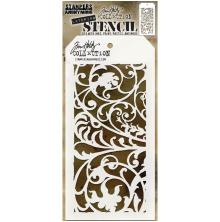 Tim Holtz Layered Stencil 4.125X8.5 - Ironwork Layered