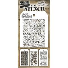 Tim Holtz Mini Layered Stencil Set 3/Pkg - Set 49