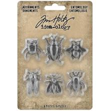 Tim Holtz Idea-Ology Metal Adornments 5/Pkg - Entomology