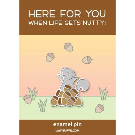 Lawn Fawn Ornaments Enamel Pin - Nuts About You