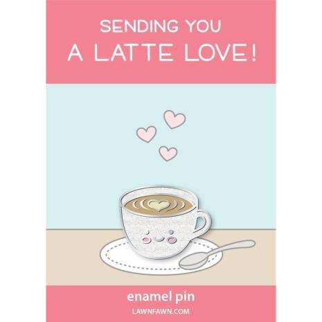 Lawn Fawn Ornaments Enamel Pin - A Latte Love